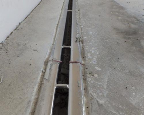 Anarbeitung an der Entwässerungstechnik