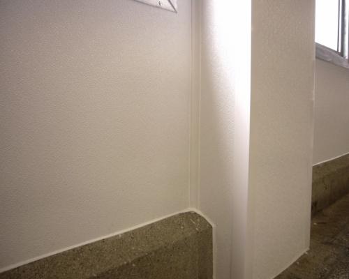 Blechpaneel mit PVC struktur saniert