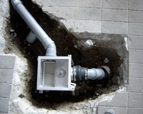 Bodenablauf mit niedrigem Einbau